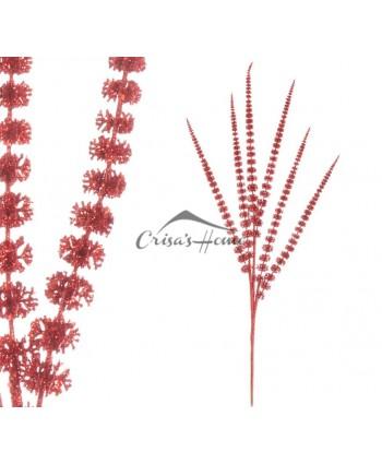 Branch Glitter Red