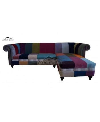 Canapea 4 locuri fixa cu sezlong Oxford