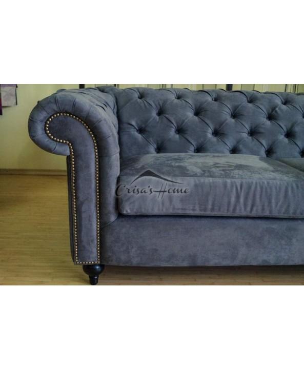 Canapea 2 locuri fixa Chesterfield