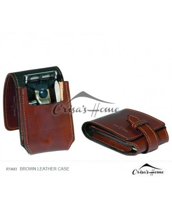 Set de calatorie pentru barbati, Brown Leather Case, Edwin Jagger