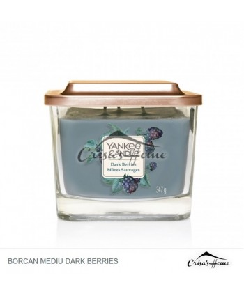 Lumanare Parfumata Elevation Collection Borcan Mediu Dark Berries, Yankee Candle